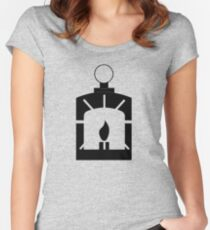 Railroad logo - Fallout 4 Women's Fitted Scoop T-Shirt