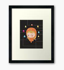Character packman girl Framed Print