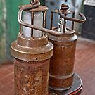 Old Ancient Miners Lamps for Coal Mining by Remo Kurka
