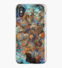 Colorful paint splatter illustration iPhone Case/Skin