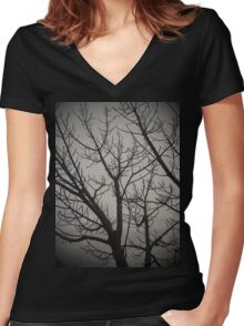Deciduous Women's Fitted V-Neck T-Shirt