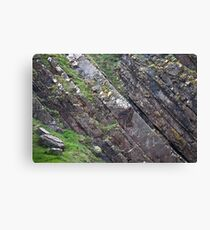 Layers of Tilted Stone Canvas Print