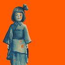 little girl in blue by artbycaf