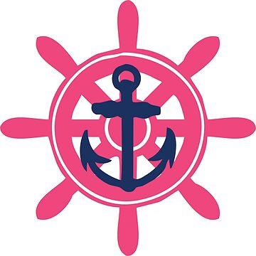 Ship Wheel w/ Anchor by lawjfree