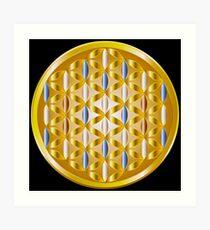 The Golden Flower of Life Art Print
