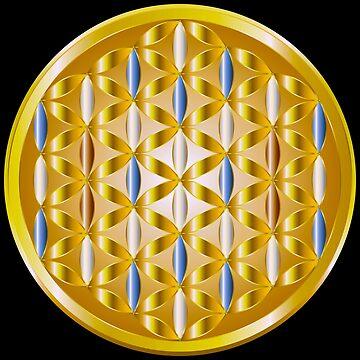 The Golden Flower of Life by Dee-Vigga