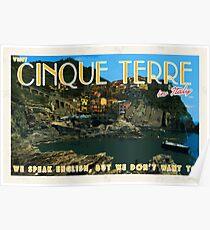Visit Cinque Terre, bring a translator Poster