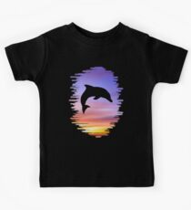 Sunset Dolphin Kids Tee