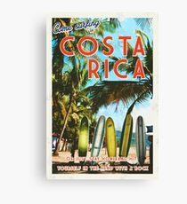 Surfing in Costa Rica isn't easy.  Canvas Print