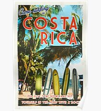 Surfing in Costa Rica isn't easy.  Poster