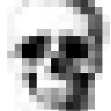 Pixelated Skull, for all your pixelated skull needs. by Bad-Doggie