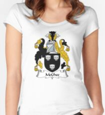 McGhee Coat of Arms / McGhee Family Crest Women's Fitted Scoop T-Shirt