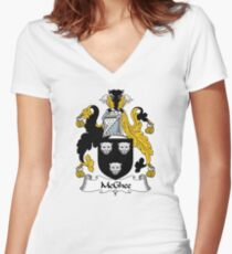 McGhee Coat of Arms / McGhee Family Crest Women's Fitted V-Neck T-Shirt