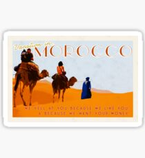 Morocco; prepare yourself  Sticker