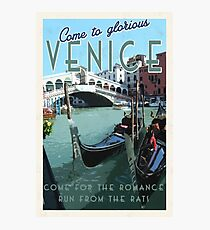 Venice, it's got some romance. Photographic Print