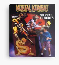 Lámina metálica Mortal Kombat So Real Duele