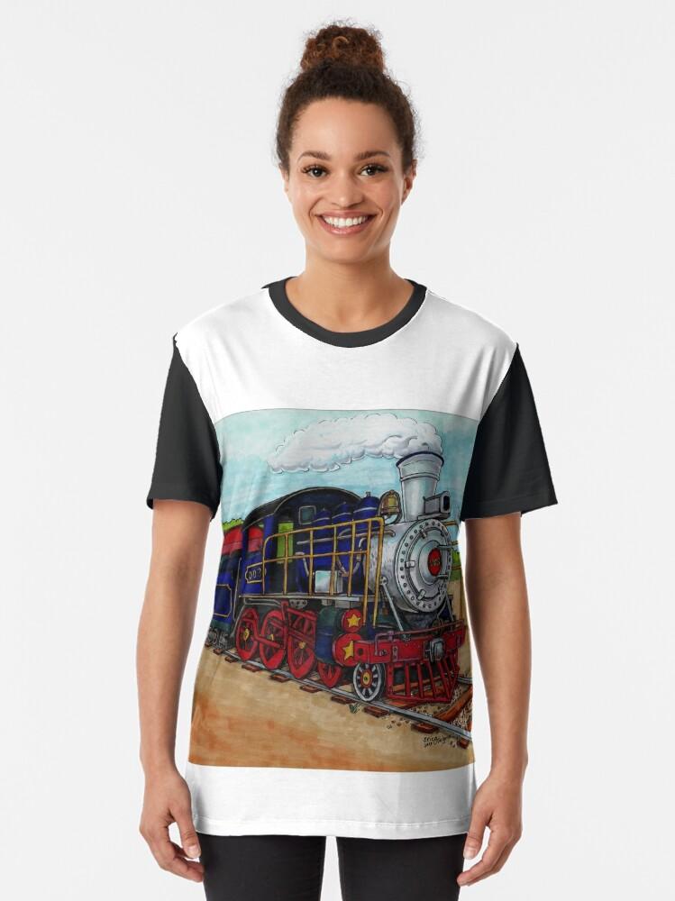 Alternate view of Train Graphic T-Shirt