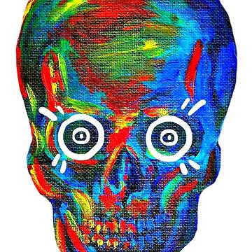 Rainbow Skull by siga-snii