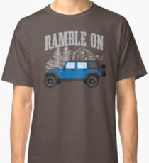 RAMBLE ON (blue) Classic T-Shirt