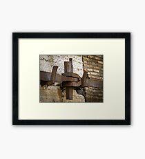 Steel anchor Framed Print