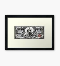 Two U.S. Dollar Bill - 1896 Educational Series  Framed Print