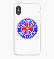 RIGHTEOUSNESS EXALTS A NATION - UK  iPhone Case/Skin