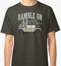 RAMBLE ON (khaki) Classic T-Shirt