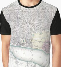 Vintage Map of Calcutta India (1842) Graphic T-Shirt