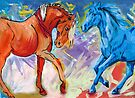Two Horses by Juhan Rodrik