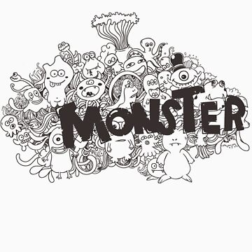 Monster's doodle by hasteeism