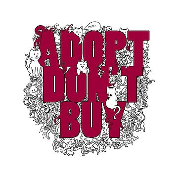 Adopt don't buy by hasteeism