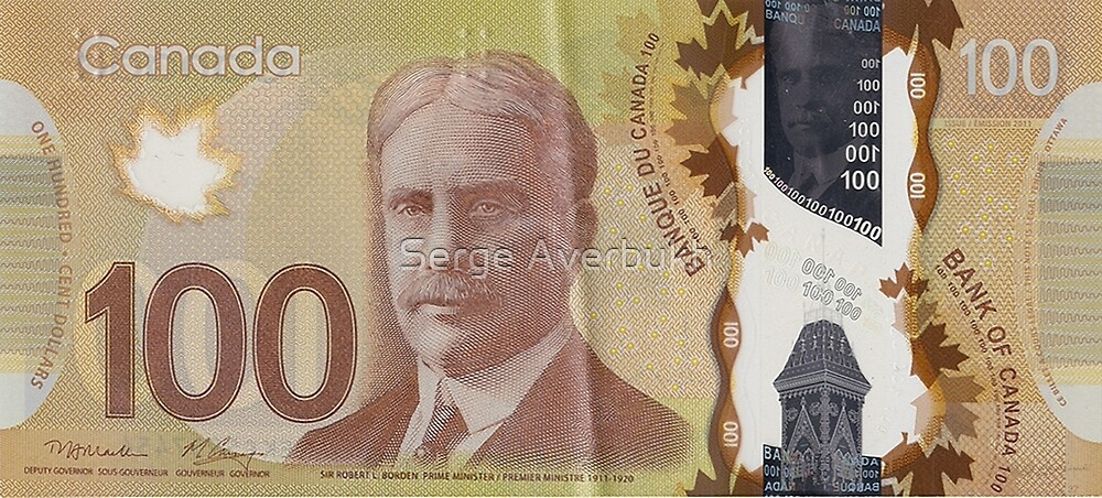 One Hundred Canadian Dollar Bill by Serge Averbukh