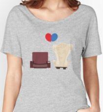 Camiseta ancha para mujer arriba