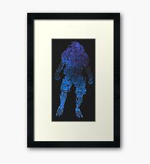 Mass Effect - Garrus (Blue) Framed Print