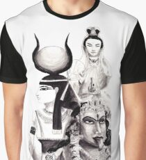 Polytheism Illustration - featuring Isis, Kuan Yin, & Kali Graphic T-Shirt