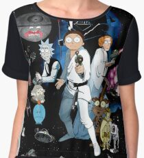Rick and Morty Wars Chiffon Top