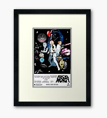 Rick and Morty Wars Framed Print