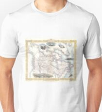 Vintage Map of Canada (1849) Unisex T-Shirt