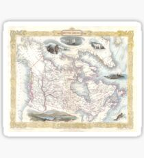 Vintage Map of Canada (1849) Sticker