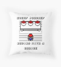 Pokemon Choice gear Throw Pillow