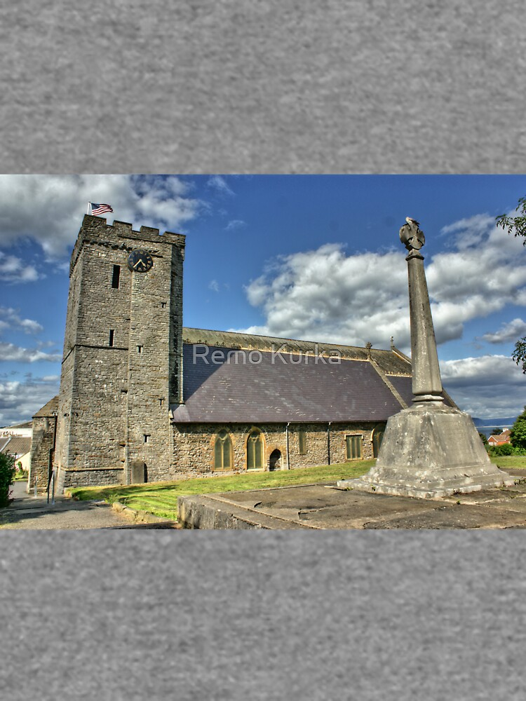 Old Norman Church in Wales (UK) showing USA Flag by RemoKurka