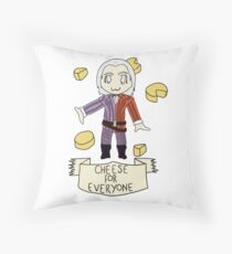 Cheese For Everyone! Throw Pillow
