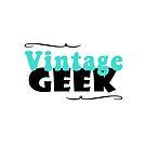 Vintage Geek Retro Typography Aqua Turquoise Blue & Black by vintagegoodness