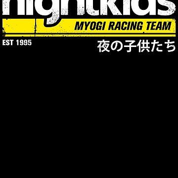 Initial D - NightKids Tee (White) by chadzero