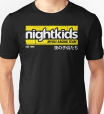 Initial D - NightKids Tee (White) Unisex T-Shirt