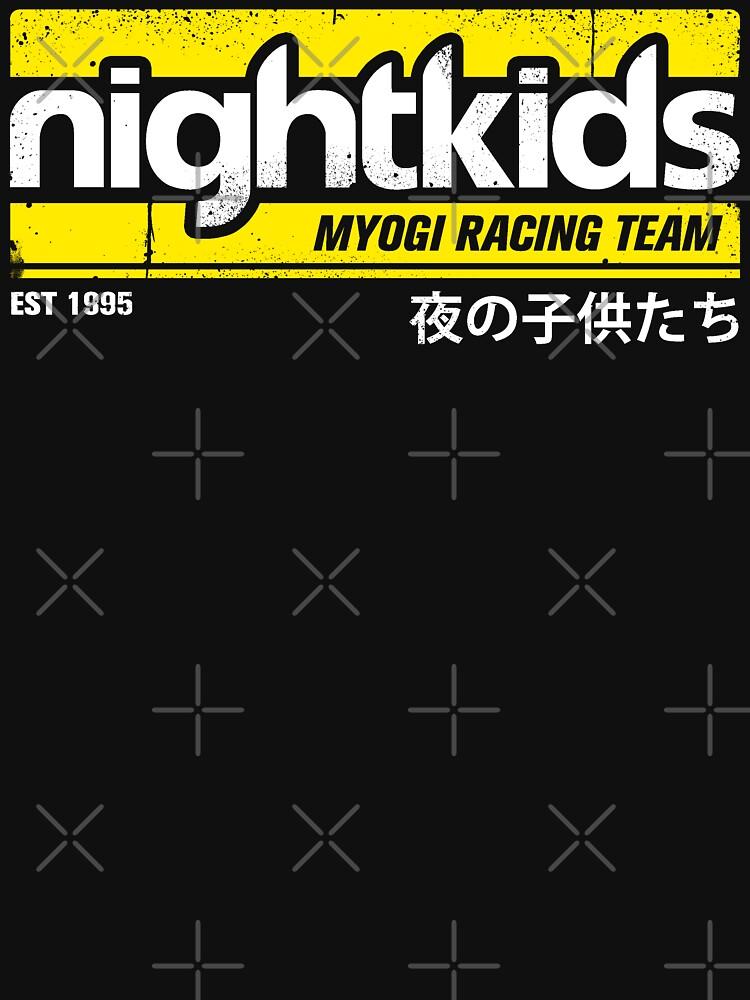 Initial D - Camiseta NightKids (Blanco) de chadzero