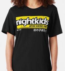 Initial D - NightKids Tee (White) Slim Fit T-Shirt