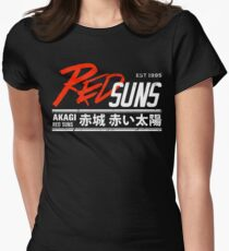 Initial D - RedSuns Tee (White) Womens Fitted T-Shirt