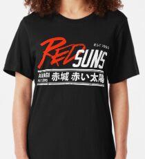 Initial D - RedSuns Tee (White) Slim Fit T-Shirt