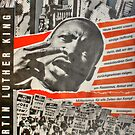 Martin Luther King - East German Poster 1980`s by Remo Kurka
